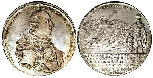 The nearly 40 000 USD worth Furstenberg-Stuhlingen coin from 1767