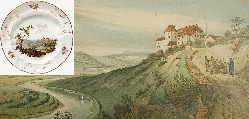 Furstenberg porcelain factory and a plate from 1741