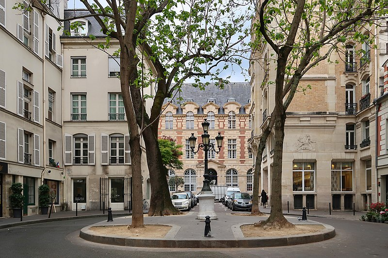 Rue de Furstemberg, Paris - view of the Abbatial Palace. A History of Furstenberg: Coins, a Castle, Porcelain, and a Street