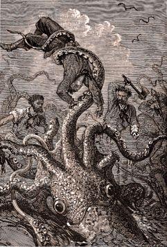 Kraken monster by Édouard Riou