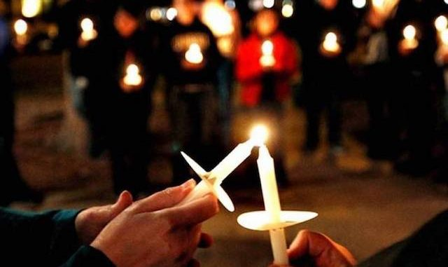 lighting candles, symbol of Easter and Christmas