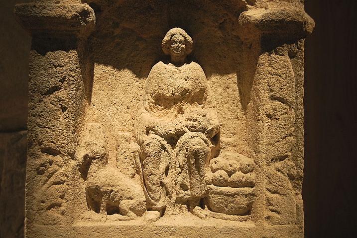 Celtic Nehalennia, dog man art history