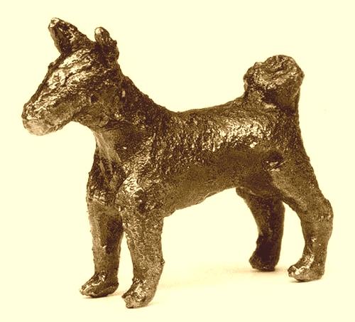 dog man art history, a Nimrud dog amulet
