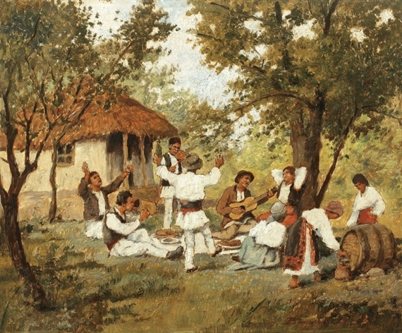 a folk party for May 1st, on Arminden - by Ludovic Bassarab