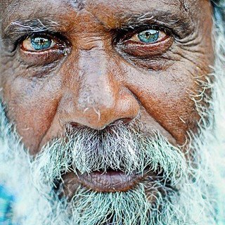 The Twelve Dreams of Mamer, a Medieval Legend, an old man with blue eyes
