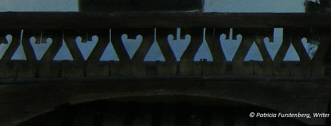 Wood carved detail on a porch from Village Museum, Bucharest