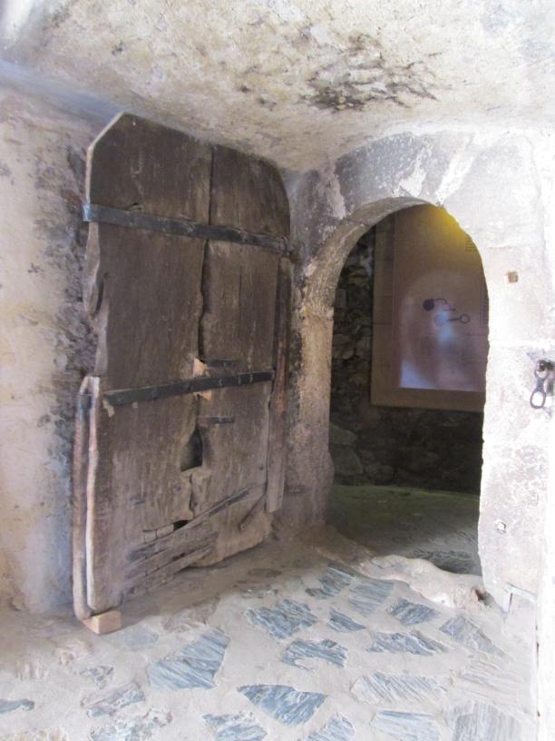 An Ancient 500 years old Door Corvin Castle, Castelul Hunedoara, Romania