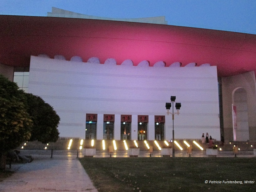 Bucharest, National Theater by night