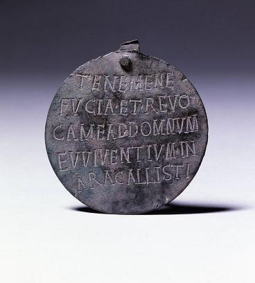 a  Roman slave collar