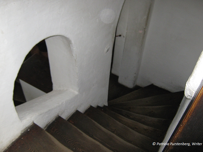 The Spiral Staircase from Symbol to Mystery, Bran castle, staircase