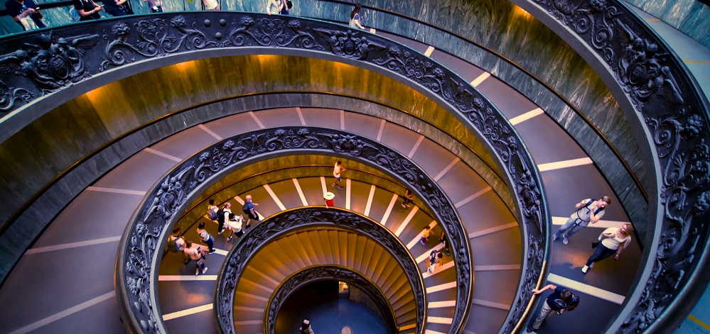 Spiral Staircase Symbol Mystery. the Bramante staircase, Vatican