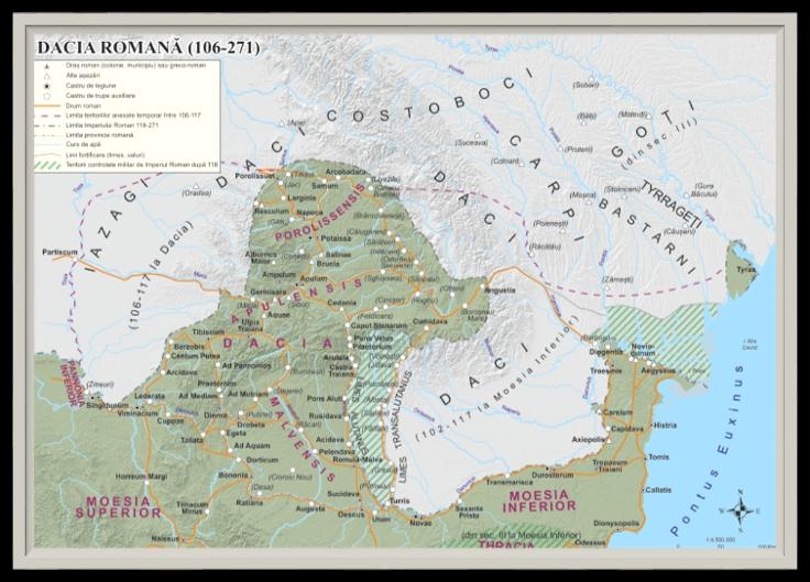 Roman Dacia (years 106-271) - Transylvania Romania Origin Etymology