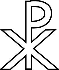 The symbol of Jesus Christ, the Chrismon symbol