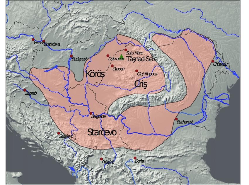 Distribution of Neolithic Criş/Starčevo/Körös culture shows an inhabited Neolithic Transylvania
