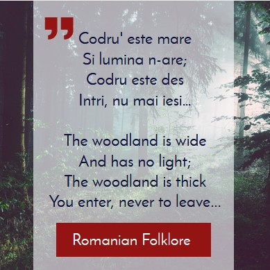 Transylvania, Romania, Its Origin and Etymology, forest symbology in Romanian folklore. An aphorism about trees and forest