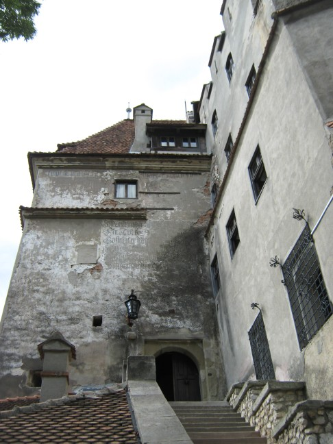 Bran Castle, a Historical Door Kept under Key for Centuries -  looking up at its entrance