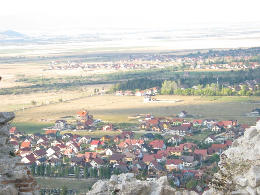 Rasnov fortress picture perfect view from the top
