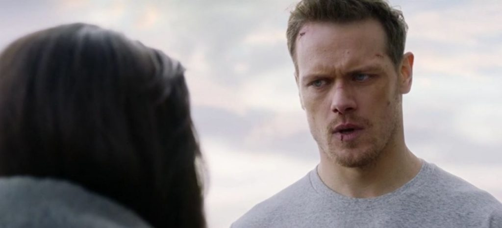 SAS Red Notice San Heughan - proposing scene analysis