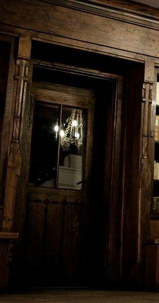 Bran Castle, library door