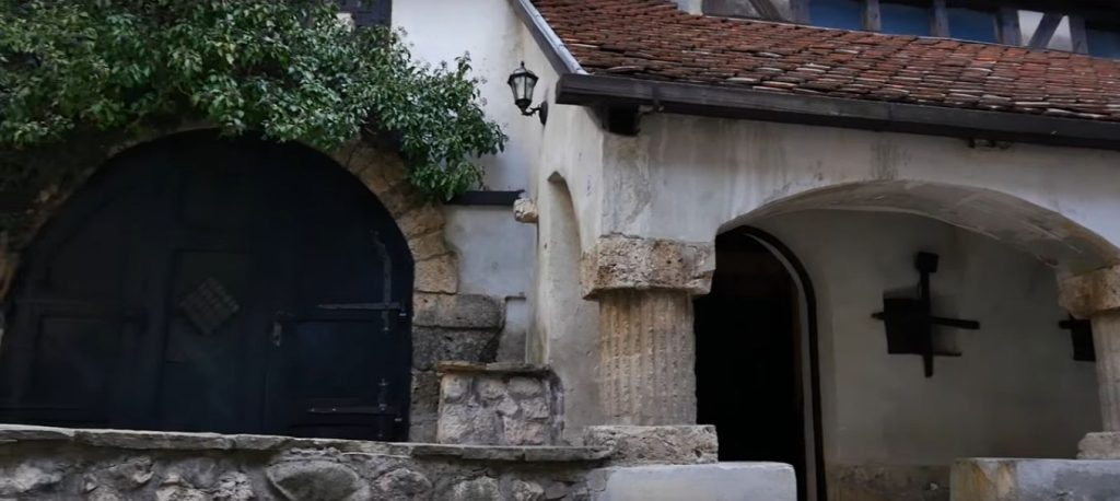 Bran castle - arched doors architecture inner court