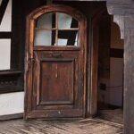 Bran Castle upper terrace door