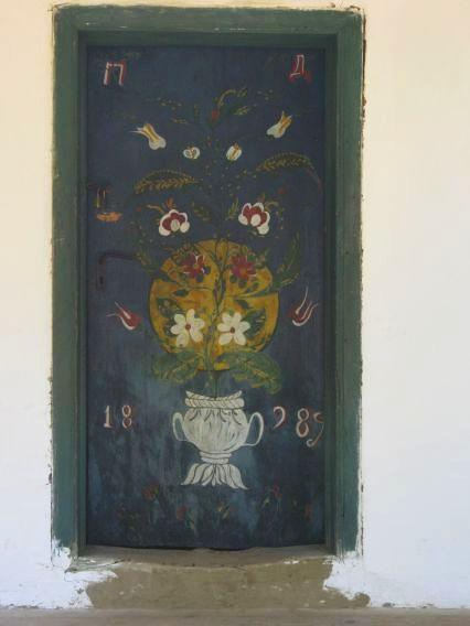 dark teal painted door, Village Museum Bucharest